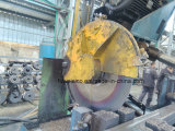 600mm HSS saw blade cutting in overseas plant.