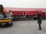African Customer Receiving HOWO Dump Trucks