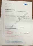 SKF Certificate
