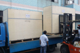 15hp air cooled water chiller Bulk carge goods delivery to the port warehouse for export