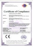 CE-LVD Certificate for Low Voltage Strip