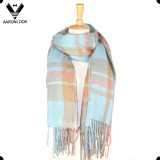 Hot Selling Tartan Plaid Knitting Blanket Cross Stripe Scarf