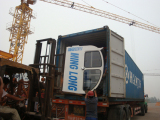 Loading cabines of self-erecting tower cranes