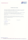 Reference Letter from our distributor in UAE