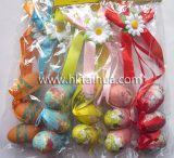Customized Assorted Color Foam Material Easter Eggs Decoration