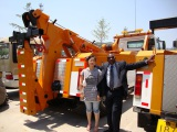Angola clients purchasing heavy duty wrecker truck