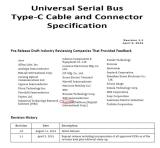 Universal serial Bus tyep-c cable and connector specification