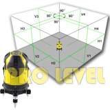 4V4H1D Electronic Auto-Leveling Green Laser Level (ECHO-444G)