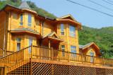 Solid Oak/Larch/Pine/Teak/Cherry/ Wood Aluminum Windows