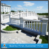 Moscow Project,Pure White Handrail and G603 Paving Stone