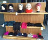 Knitting hat scarf