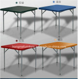 Colorful plastic square folding table