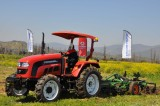 Lovol tractor is cultivating in the farmland in Chile