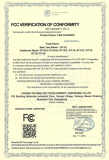 FCC Certificate of Car Charger