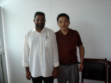 General Manager Chen and the client from The Republic of Mauritius