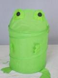frog Polyester Pop-up foldable hamper for storage box Laundry hamper