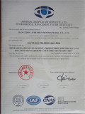 Invironmental Management System Certificate