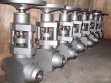 Stainless steel high pressure forged steel self sealing gate valve
