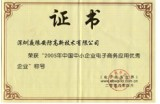 Certificate Of Good Corporate E-Business Applications