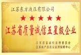 5 STAR JIANGSU DONGFANG PRODUCTS CERTIFICATE