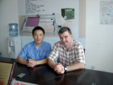 General Manager Chen and the client from South Africa
