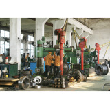 Belt conveyor pulley/durm cutting machine