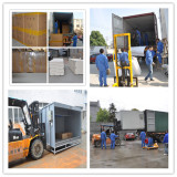 Packaging of powder coating booth