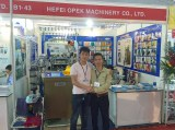 Opek machine in professional knitting exhibition