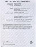 Certificate of compliance--UL