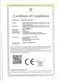 CE Certificate for Delton LED Lamp Strip
