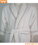 DPF 100% cotton velvet luxury hotel bathrobe