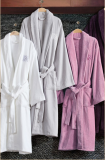 100% cotton terry luxury bathrobe