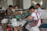 Leather Gloves Production Line-Cutting