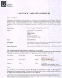 CERTIFICATE OF FIRE APPROVAL