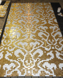 Glass Mosaic Pattern, Mosaic Glass Wall Tile (HMP648)
