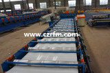 servo motor glazed roofing tile machine