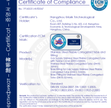 Ce Certificate for Stainless Stell Pipe and Fitting
