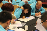 DONGFANG staff are taking notes carefully in class