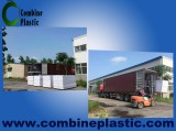 loading PVC foam board into container for export on square