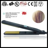 "1"" Black Pure Ceramic Lockable LCD Hair Flat Iron"