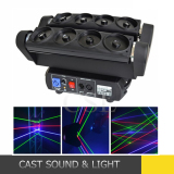 Professional 8 Eye Moving Head Stage Laser Light