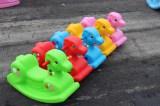 children playground rocking horse on sell