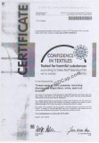 Confidence in Textiles - OekoTex Standard 100 HKYO 040982