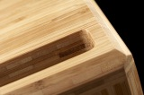 How should bamboo products be finished ?
