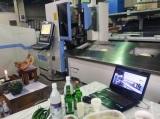 Fiber metal pipe laser cutting machine at Korea market