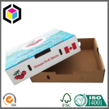 Full Color Print Cherry Corrugated Box with Lid