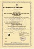 FCC Verification of Conformity of Solar Street Lights