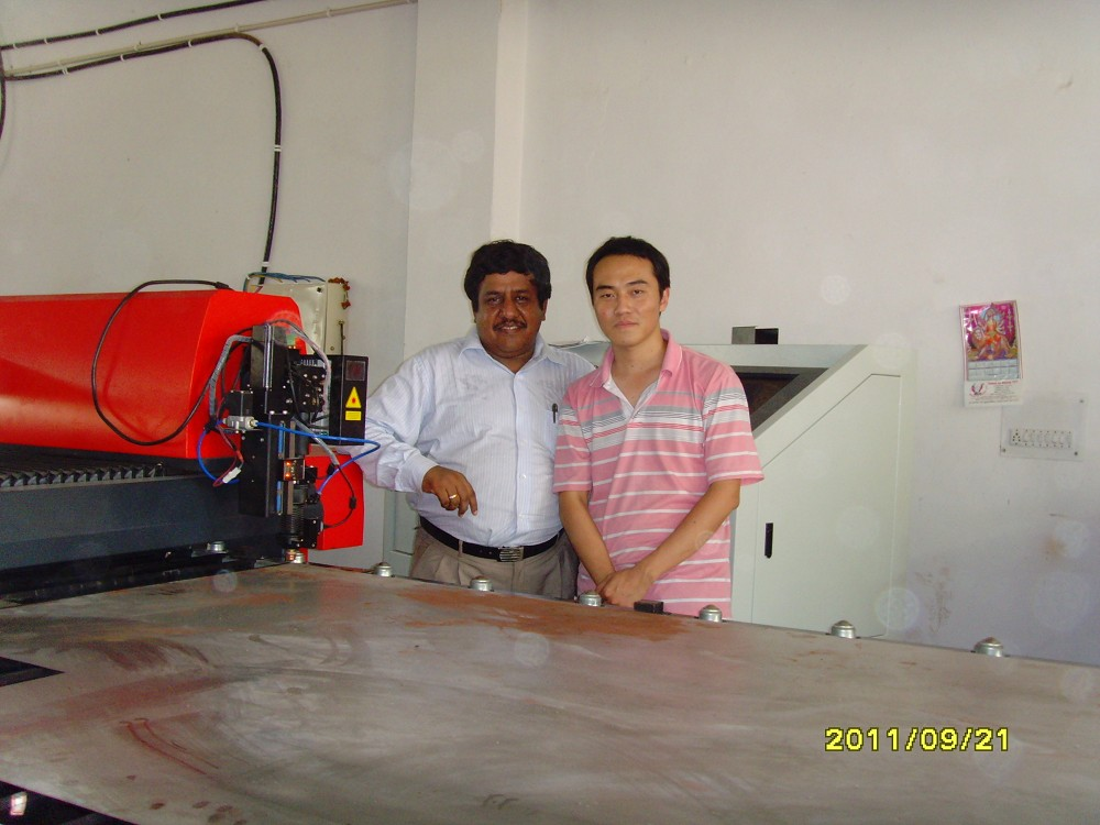 Assemble Tianqii laser machine in India
