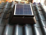 Solar Powered Attic Fan on corrugated roof