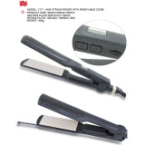 Hair straightener with comb